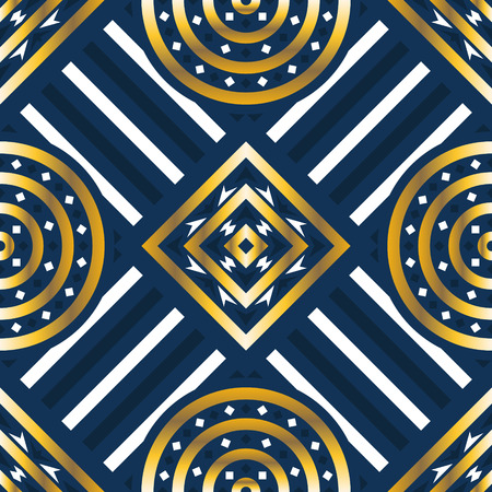 abstract modern golden and blue geometric pattern
