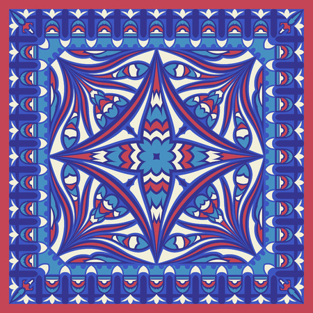 abstract contemporary four colors style pattern Illusztráció