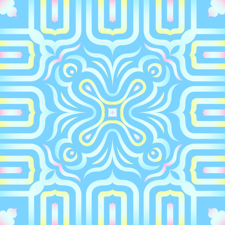 abstract soft colors contemporary pattern on blue