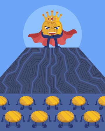 Ik ben een koning van cryptocurrency.