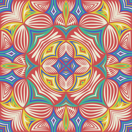 abstract contemporary native pattern on orange