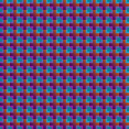multi cross seamless pattern on green