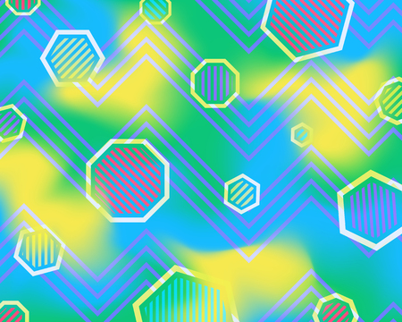 modern colorful geometric space background Illustration