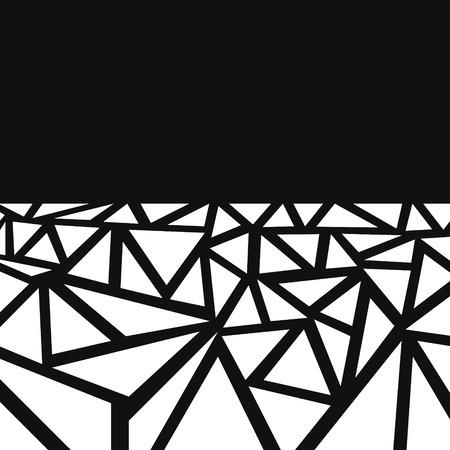 vector black and white multi triangle background Çizim
