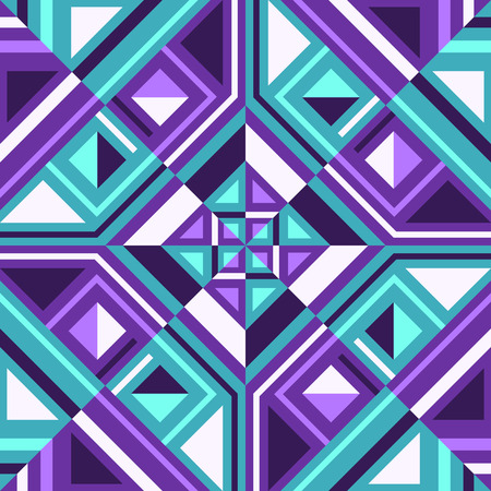 Abstract modern geometric green and violet switching pattern.