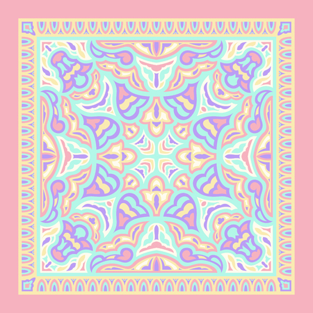 abstract pastel colors modern contemporary antique pattern Illustration