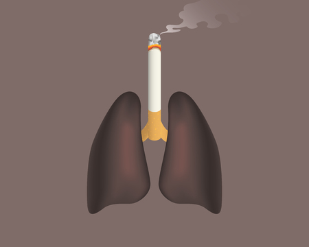 black lung connected with cigarette