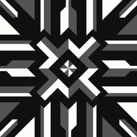 abstract modern geometric black and white tone switching pattern