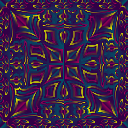abstract switching red violet and green contemporary vintage pattern