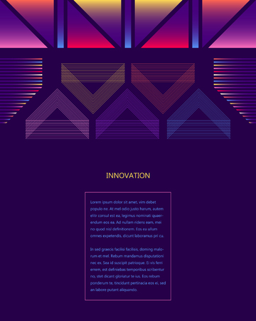 vector digital colorful five triangles wireframe network and gradient lines background for brochure banner and publication