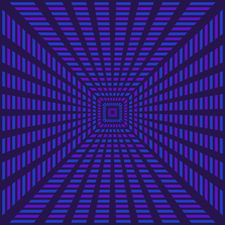 abstract modern geometric illusion blue and violet radial style pattern
