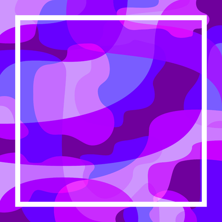 abstract modern contemporary ultra violet shape overlap and white frame pattern