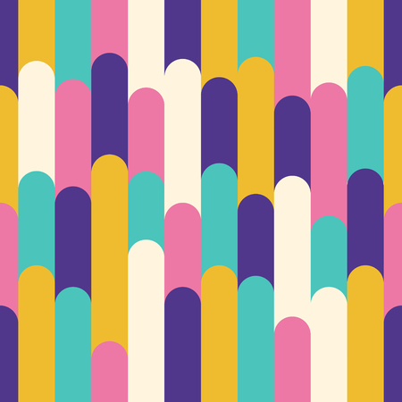 modern colorful rounded rectangle overlap seamless pattern
