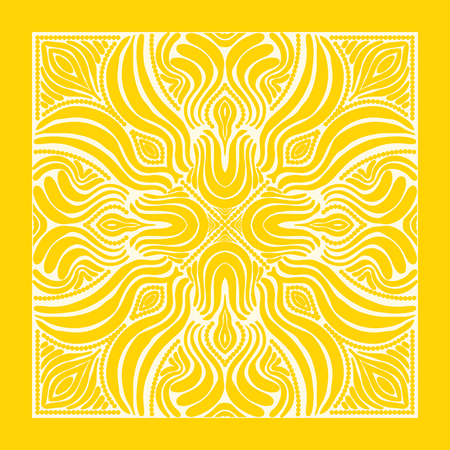contemporary yellow and white native pattern  イラスト・ベクター素材