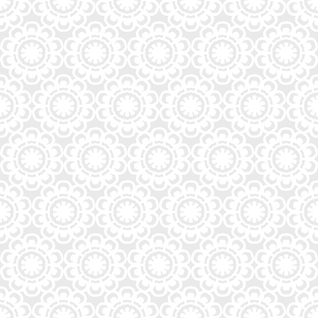 white vintage lace doily floral seamless pattern 写真素材 - 127409409