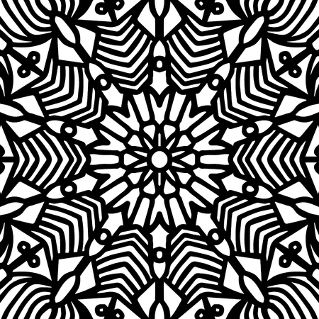 contemporary black native pattern on white  イラスト・ベクター素材
