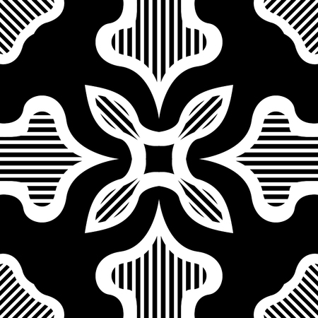 modern contemporary vintage black pattern on white