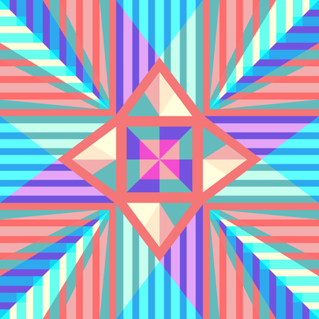 modern colorful geometric overlap pattern