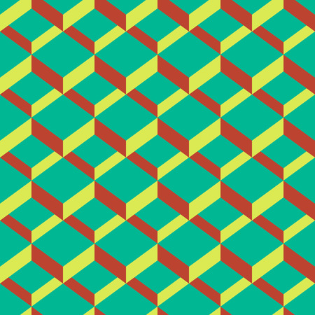 modern geometric square dimension seamless pattern