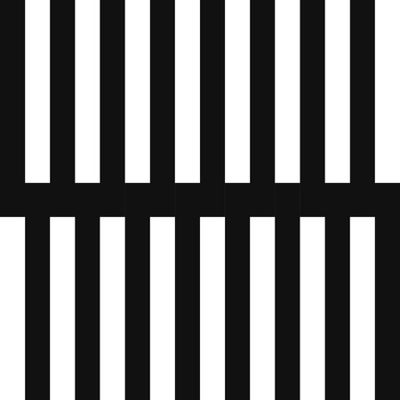 modern black and white vertical geometric lines seamless pattern  イラスト・ベクター素材