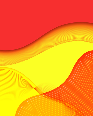 ripple geometric red and yellow network background for brochure banner and publication