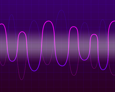 vector digital colorful sine wave background for brochure banner and publication