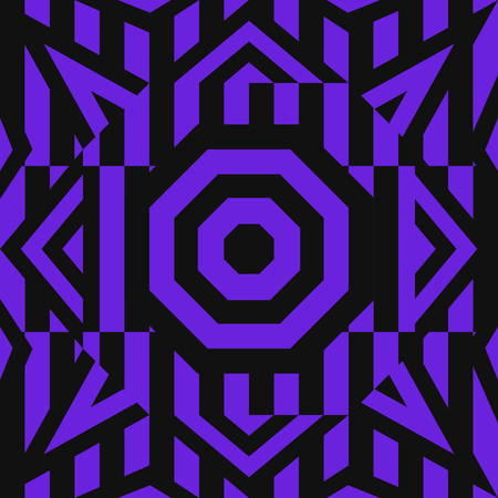 modern contemporary violet and black geometric switching pattern