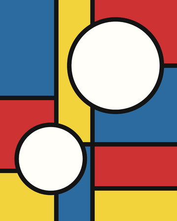vector modern mondrian art background for brochure banner and publication