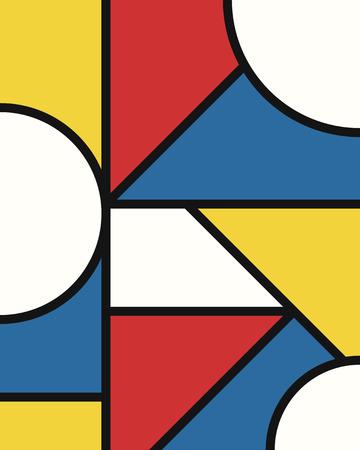 vector modern mondrian art background for brochure banner and publication