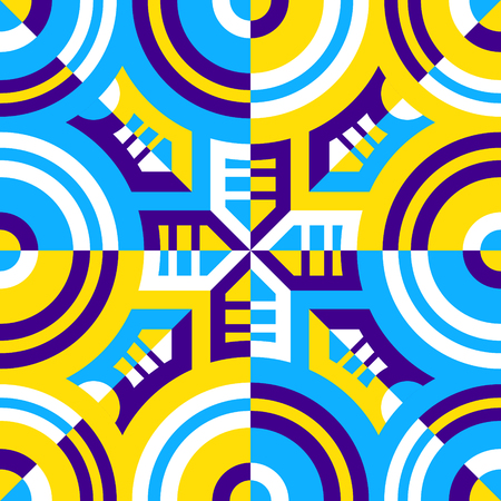 modern contemporary colorful geometric switching pattern Stock Illustratie