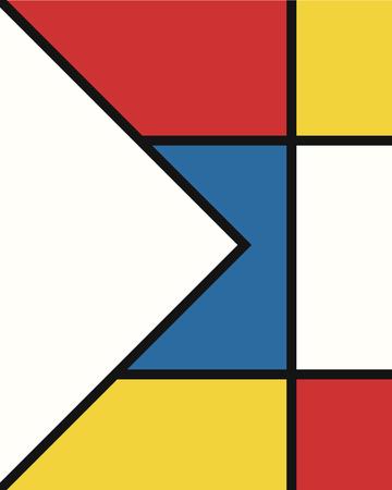 vector modern mondrian art background