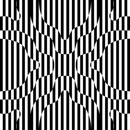 modern contemporary black and white geometric switching pattern