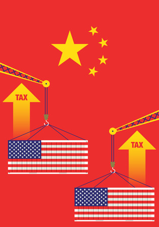 china raise taxes shipping import from america