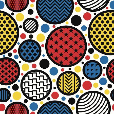 vector modern art style seamless pattern 写真素材 - 128380459
