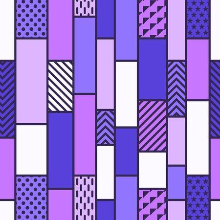 vector modern mondrian art style seamless pattern  イラスト・ベクター素材