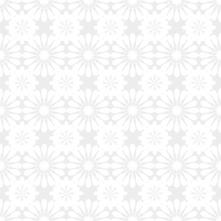 vector vintage white and grey lace doilies floral seamless pattern 写真素材 - 129273806