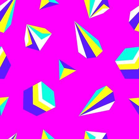 vector modern colorful geometric seamless pattern on pink 写真素材 - 132825449
