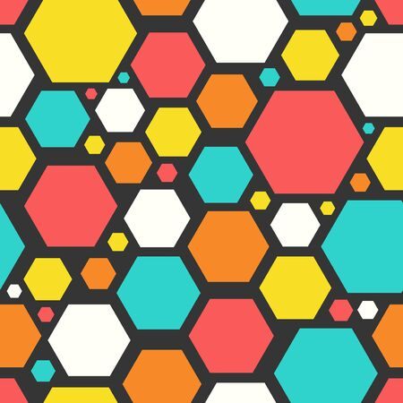 vector modern hexagon geometric seamless pattern 写真素材 - 132825457