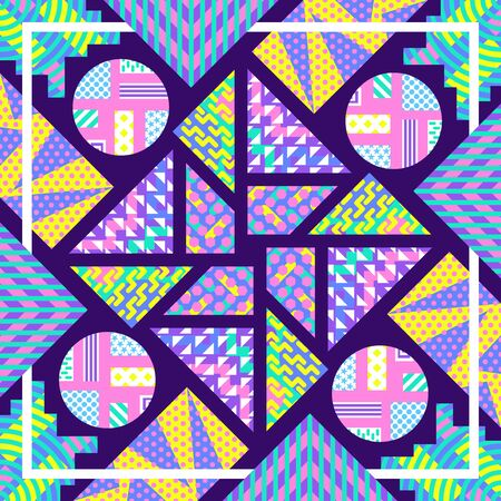 modern contemporary colorful geometric pattern on violet 写真素材 - 131801100