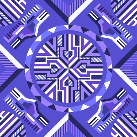 modern contemporary violet geometric switching colors pattern 写真素材 - 132825491