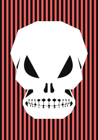 vector halloween skull background for brochure banner and publication  イラスト・ベクター素材