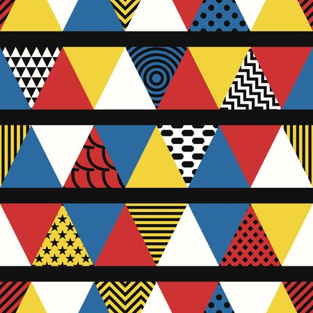 vector modern variety triangle seamless pattern  イラスト・ベクター素材