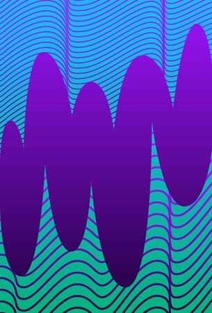 vector geometric wave lines pattern on violet background for brochure banner and publication