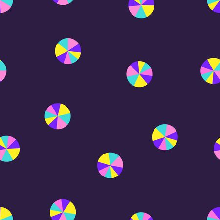vector modern colorful geometric circles seamless pattern on dark violet