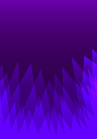 vector geometric sharp wave ripples overlap pattern on violet background for brochure banner and publication