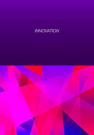 vector geometric freeform shape overlap pattern on violet background for brochure banner and publication 写真素材 - 132639338