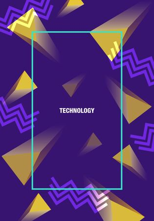 vector modern geometric triangle and zigzag lines network connection for brochure banner and publication 写真素材 - 132724320
