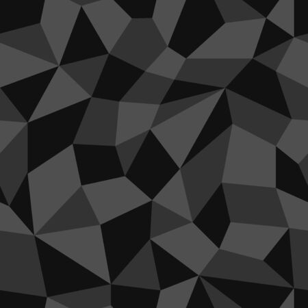 vector modern black geometric seamless pattern  イラスト・ベクター素材