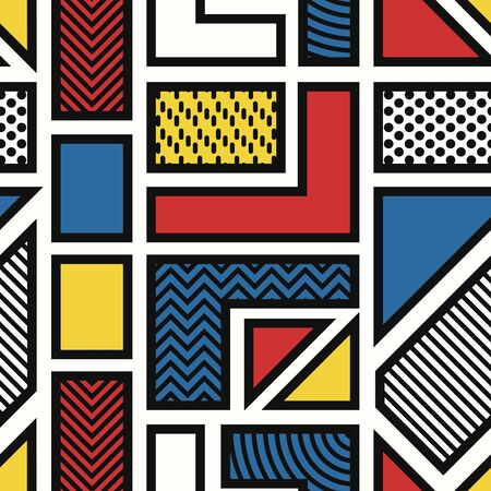vector modern geometric seamless pattern on white