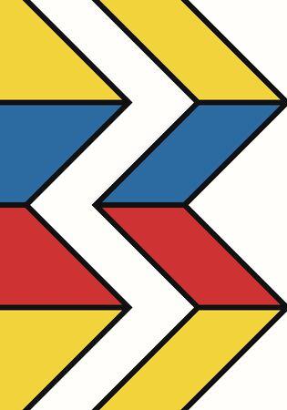 vector modern geometric design background for brochure banner and publication Illustration